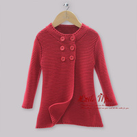 Fall Baby Girls Coat Children Christmas Red Double Button Cotton Sweater Halloween Kids Party Jacket Ready Stock