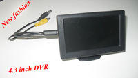 """2013 new fashion 4.3"""" LCD car DVR ,4.3 inch tft monitor support TF card storage,mini DVR,Car rearview system,car recorder"""