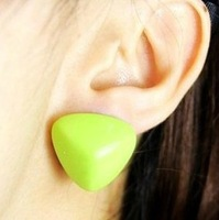 fashionable christmas gifts for her rivet shaped stud earrings for women ear studs free shipping