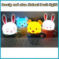 Creative Led Energy-Saving Table Lamps Cartoon Children Cup Night Light-honey bear