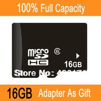 Full Capacity Hot Selling!Free Shipping Wholesale 2GB/4GB/16GB/32GB TF Transflash Memory Micro SD Card+Adapter As Gift Min1