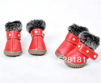 Free shipping, Fur collar,  pet shoes