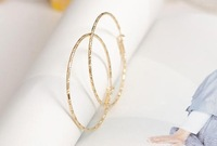 fashionable christmas gifts for women silver/gold hoop earrings for women free shipping