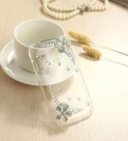 New Silver Five Flowers Luxury Rhinestone Diamond Design Hard Cover Crystal Bling Case For SAMSUNG GALAXY S3 MINI I8190