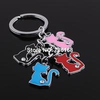 Free shipping stylish chaveiro hotsale key ring wholesale fashion zinc alloy enemal fashion keychain
