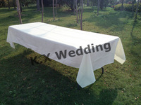 147cm*304cm White Rectangular Poly Table Cloth For Wedding & Party & Decoration