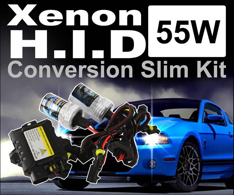12v 55W H1 H3 H4-2 H7 H8 H10 H11 9005 9006 DC HID kit xenon Conversion slim kit headlight 4300k 5000K 6000K 10000K 12000k(China (Mainland))