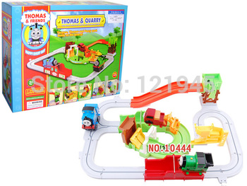 Free shipping children toys  cartoon train electronic railway track of train best gifts for children YEK10444