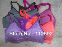 New arrival yoga sports underwear sleeping bra wireless women's bra topShock absorb sweat breathe freely free shipping