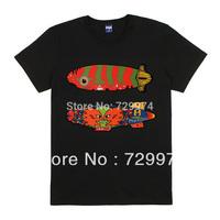 PINK FLOYD fish cartoon design prints thick cotton t shirt vintage fashion 160-185