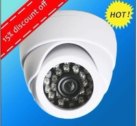 White plstic 24LED Infared 420TVL Color CMOS CCTV Dome Home Indoor Security  Surveillance cameras