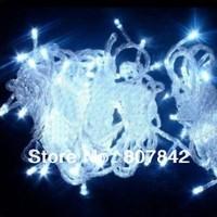 Free Fedex 10pcs/lot wedding lights 50M 400LEDs 220V christmas string lights 28W 7colors led christmas lights 50m
