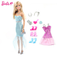 Original Brand Barbie Doll Accessories dolls for girls Fashions X3496 Fashion Design Plates Classic Children Toys Free Shipping