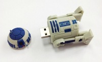 100% Real 2GB 4GB 8GB 16GB Silicone Cartoon Star Wars R2D2 USB 2.0 Flash Memory Stick Pen Drive U Disk, R2D2 USB Flash Drive