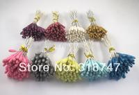Free shipping wholesale Mixed 8 Colors  Flower Stamen Floral Stamen Cake Decoration(400pcs/Lot) 002013001