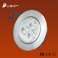 400pcs/lot!Free shipping New year Aluminum led recessed bathroom ceiling down light 3x3w downlight warm/cool white AC85-265V