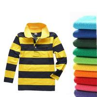 Boys Shirts Discount Children Polo Blouses Autumn 2013 Kids  Fashion Long-sleeve Turn-down Collar Girls Tops & Shirt