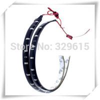 free shipping 10pcs 30cm 15 SMD 3528 White / Red / Blue Color Waterproof Flexible LED Strip 30cm Length Car Strip