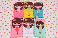 Hot sale 3D Soft Silicone Case Beautiful Girl Back Cover for iPhone 5 5S Free Shipping