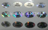 4000 pcs ( 25 sheet x 160pcs ) Oval QC PASSED Laser Label Stickers 10mm X 6mm