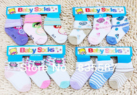 Free Shipping 3Pairs/LOT Children Cute Cotton Short Socks Cartoon Infant Baby Boy Girl Sock Kids Socks Multicolor