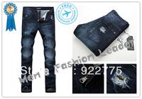 28-36#KPDG0975,2013 Fashion Famous Brand Man Jeans Men,High Quality Ripped Jeans For Men,Dark Color Cotton Denim True Jeans Men