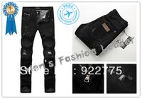 28-36#KPDG0973,2013 Fashion Brand Famous Mans Jeans,Ripped Jeans For Men,Plus Size Jeans Men,Black Denim Men's Jeans