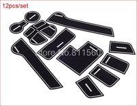High Quality Silica Gel Gate Slot Pad Teacup Pad Non Slip Pad Car Mats fit for KIA Sportager 2010-2013 5dr Hatchback  12 PCS