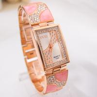 Hot Sale 5 colors Rose Gold Tone Sparkling Crystal watch women Ladies Girls dress Quartz Wristwatches TW027