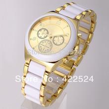 New model Luxury dress watch women watch gold famous logo table Noble Elegant clock  Stainless steel Bracelet Wristwatch