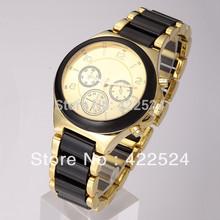 New model Luxury dress watch women watch gold famous logo table Noble Elegant clock Stainless steel