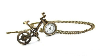 Retro sweater chain necklace childhood bicycle bike style pocket watch cell phone Key Pendants
