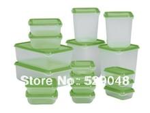 17piecess/set plastic food container, crisper,storage box(China (Mainland))