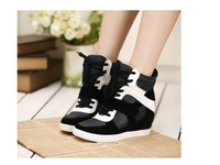 Popular 2014 Fashion Height Increasing  Boots Sneakers Shoes Women Sneaker  Free Shipping