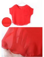 short sleeves Loose blouse Batwing coat head shirt for women free shiping