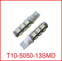 100pcs/lot T10 168 194 W5W 13 SMD 5050 led Auto Car White Car led 13smd 13led 5050 LED LIGHT Wedge BULB LAMP 12V