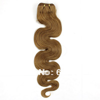 "12""-26""#16 Brown Star Queen Hair Products Virgin Remy Hair Weave Body Wave  Peruvian Human Hair On Sale 4A Free Shipping"