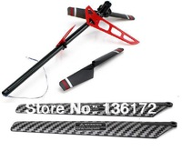 4pcs mjx f45 f645 2.4G 4 channels rc helicopter spare parts set tail bar +main blade + tail blade red ones free shipping