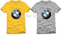 Free shipping hot sale kids t shirt Brand car logo printed t shirt 3-12 years 100% cotton size 90/100/110/120/130/140/150cm