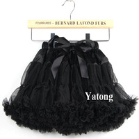Fashion chepast black halloween pettiskirts tutu Baby girls dance party tutu skirts  Free shipping