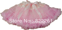 Fashion cheapest pink fairy chiffon pettiskirts tutu Baby girls dance party tutu skirts Halloween costume Free shipping