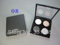 1 pcs/lot High quality cheap MC brand make-up Original 4 Color Eyeshadow palette eye shadow glitter 8 diff color free shipping