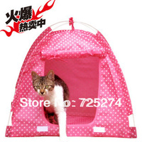 Hot-selling  polka dot pet tent dog house yurt cat bed sofa princess waterproof !