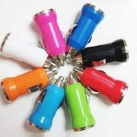 qc001-1 hot selling products 1pcs No packaging  new vehicle charging plug / USB car charger Color random /micro charger