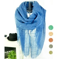 2013 new women peached boths sides with dots and row edge women scarves, women fashion scarves