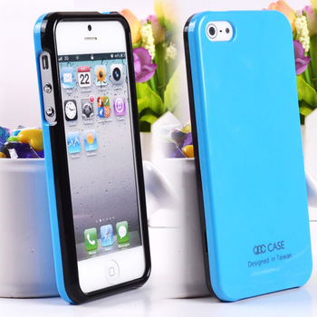 Attractive mobile phone shell 2pcs/1lot surface smooth bright shine case or rubber case for iphone 5s 5g Free shipping