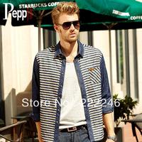 2013 new men's shirt Korean version of casual denim shirt ,spring& autumn Fashion men Denim Lapel Long-Sleeved Shirt