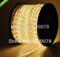 50meter (164 feet) LED Neon Rope Light  220V/120V clear Warm White 2-wire 10mm Round christmas duralight strip 36LEDs/M+freeship