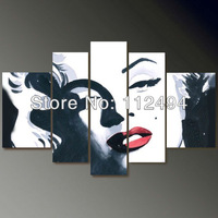 High Quality/FreeShipping/Hand-painted 5pcs Group  Oil Painting on Canvas Art home decoration, Marilyn Monroe F/024