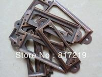 Red Antique Iron  Label Frame Card Holder drawer box case cabinet cupboard carpenter name display plan shelf filing 60*17mm